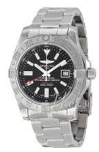 Breitling Avenger II GMT Sort/Stål Ø43.00 mm