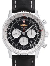 Breitling Navitimer 01 46mm Sort/Læder Ø46 mm