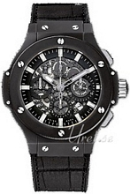 Hublot Big Bang Aero Bang Black Magic Sort/Læder Ø44.5 mm