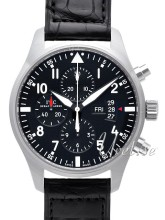 IWC Pilots Chronograph Sort/Læder Ø43 mm
