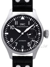 IWC Big Pilots Sort/Læder Ø46 mm