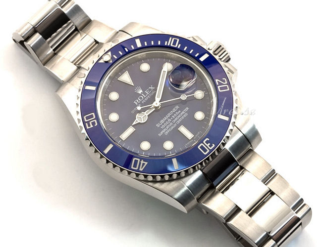 Rolex Submariner Bl  229  18 karat hvidguld   216 40 mmRolex Submariner White Gold