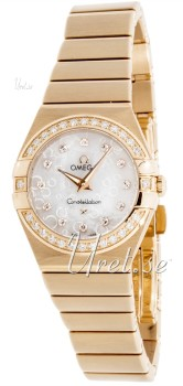 Omega Constellation 24 mm MOP, White Dial Rose Gold Bracelet