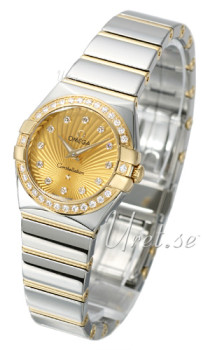 Omega Constellation Polished Quartz Champagne/18 karat guld Ø24