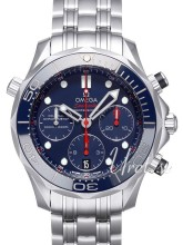 Omega Seamaster Diver 300m Co-Axial Chronograph 41.5mm Blå/Stål