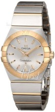 Omega Constellation Brushed Quartz Sølvfarvet/18 karat guld Ø27